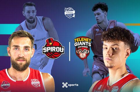 Suivez Spirou Basket - Giants Antwerp samedi en direct sur Proximus TV !