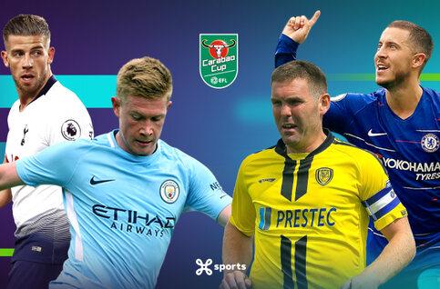 Bekijk de halve finales van de League Cup live op Proximus TV
