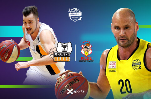 Leuven Bears - BC Oostende live op Proximus TV