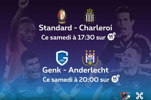 Jupiler Pro League : derby wallon entre le Standard et Charleroi et choc Genk - Anderlecht !