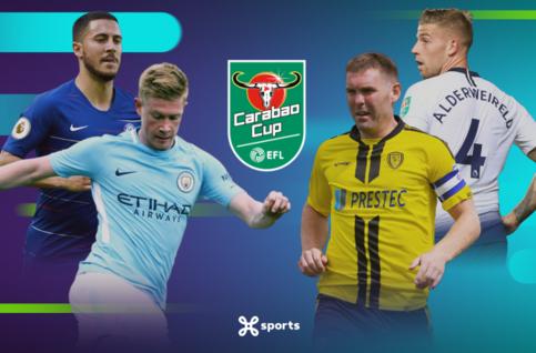 Wie haalt de finale van de League Cup?