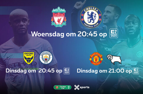 Bekijk de Engelse topclubs live in de League Cup