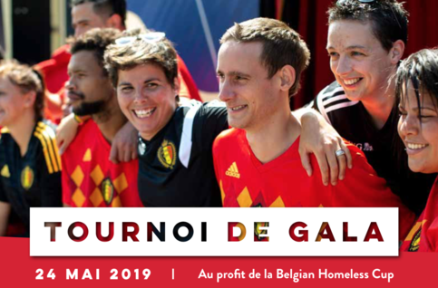 Tournoi de Gala Belgian Homeless Cup au Belgian Football Center le 24/05
