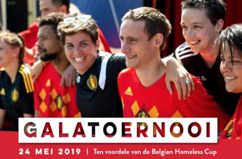 Galatoernooi Belgian Homeless Cup in het Belgian Football Center op 24/5
