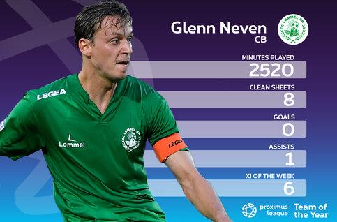Proximus League XI van het seizoen // CENTRUMVERDEDIGER (2) // Glenn Neven (Lommel SK)
