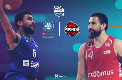 Suivez Mons-Hainault - Spirou Basket samedi en direct sur Proximus TV