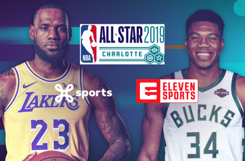 Basketbalspektakel tijdens het NBA All Star Weekend
