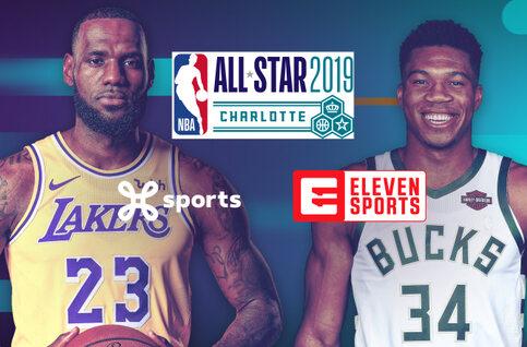 Basketbalspektakel tijdens het NBA All Star Weekend