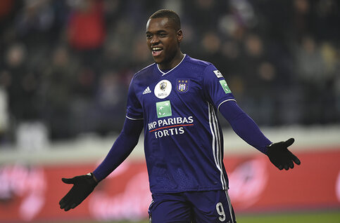Landry Dimata is de speler van de maand december bij Anderlecht