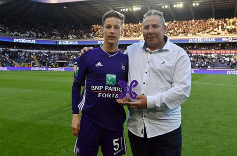 Yari Verschaeren est le joueur du mois d'avril d'Anderlecht !