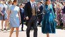 Prins Andrew, prinses Eugenie en prinses Beatrice