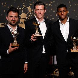 Club Brugge aan het feest op het gala van de Profvoetballer van het Jaar
