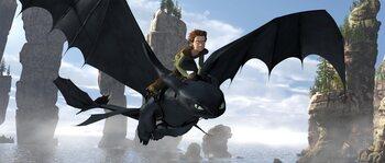 Harold et Gueulfor dans Dragons