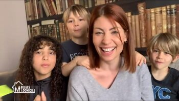 """""""Belges à domicile"""" : Jill Vandermeulen enfile ses gants de super maman"""