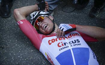 21 april - De waanzinnige sprint van Mathieu van der Poel in de Amstel Gold Race