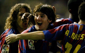 Lionel Messi, Diego Maradona en Pelé