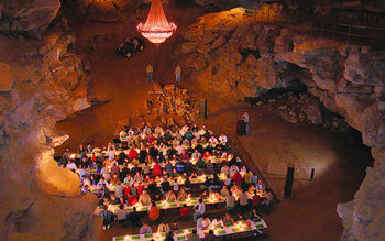 The Volcano Room des Cumberland Caverns, à McMinnville, Tennessee (États-Unis)