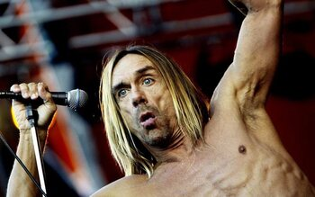 Iggy Pop pops ...