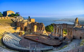 Teatro Antico di Taormina, à Taormina (Italie)