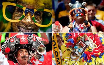 Kleurrijke supporters op het WK