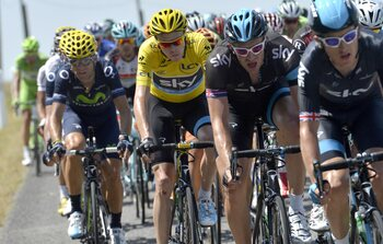 Prachtige waaierrit in Tour de France 2013
