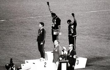 De Black Power groet van Tommie Smith en John Carlos