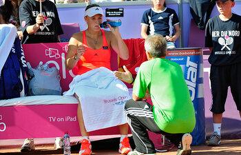 Caroline en Piotr Wozniacki