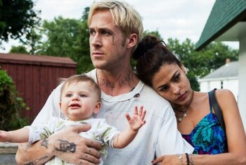 Eva Mendes et Ryan Gosling (The Place Beyond the Pines)