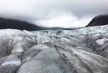 De Svínafellsjökull-gletsjer in IJsland