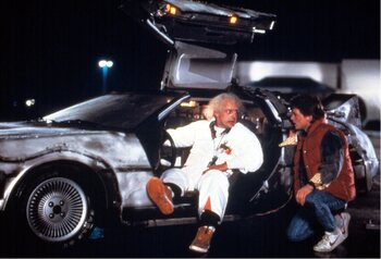 De DeLorean uit 'Back to the Future'