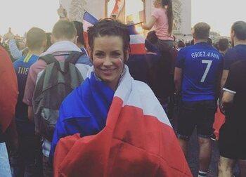 Elle a fêté la victoire des Bleus