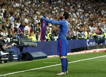 Mythische vieringen: Messi toont aan Bernabeu wie de baas is
