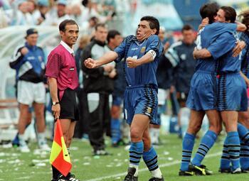 Mythische vieringen: Maradona schreeuwt het uit na laatste WK-goal ooit