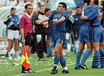 Célébrations mythiques : Maradona exulte après son dernier but en Coupe du monde