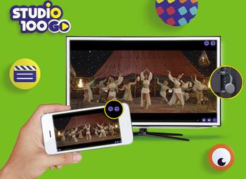 Cast de inhoud van de Studio 100 GO app nu ook naar je televisiescherm!