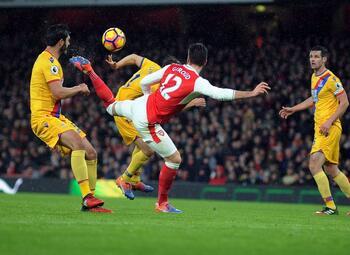 One day, one goal: het weergaloze kunststukje van Giroud tegen Crystal Palace