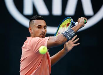 Fratsen fnuiken tennistalent Nick Kyrgios