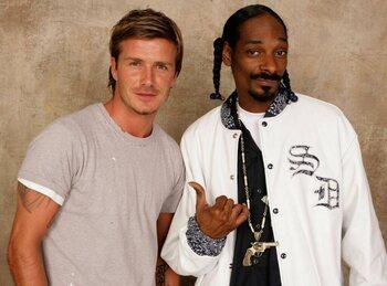 David Beckham en Snoop Dogg