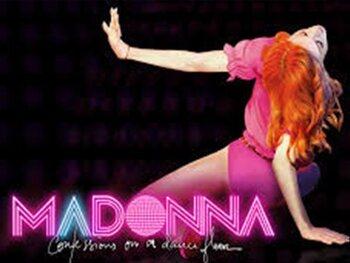 Neon-en-rolschaatsen Madonna