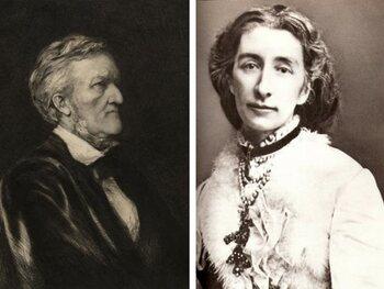 Cosima Liszt et Richard Wagner