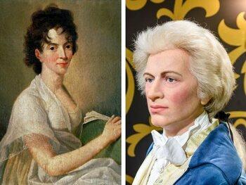 Constance Weber en Wolfgang A. Mozart