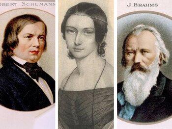 De love triangle Clara Wieck - Robert Schumann - Johannes Brahms
