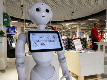 Des humanoïdes pour accueillir les clients