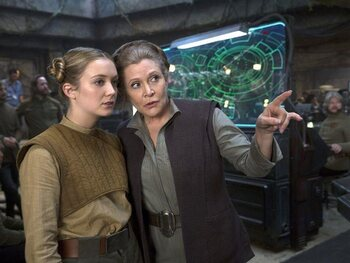 Carrie Fisher en Billie Lourd