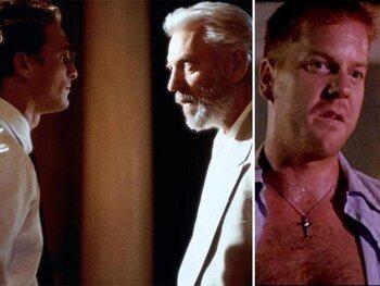 Donald en Kiefer Sutherland