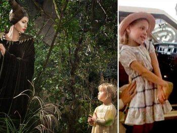 Angelina Jolie, Vivienne Jolie-Pitt en Jon Voight