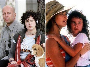Rumer Willis et Bruce et Demi Moore