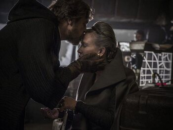 De ontmoeting tussen Luke en Leia