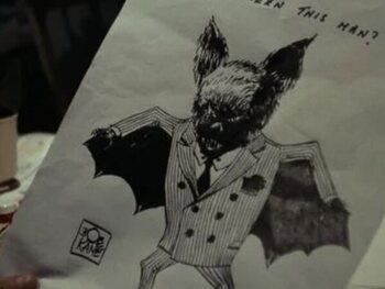 Knipoog naar de bedenker van Batman