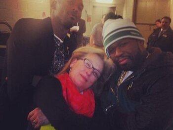 Meryl Streep en 50 Cent